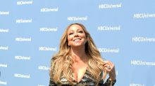 Mariah Carey pierde tacón, aparece semi desnuda