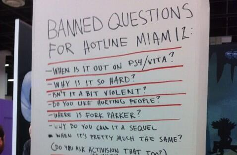 Seen@Gamescom: Don't ask the Hotline Miami 2 devs these questions