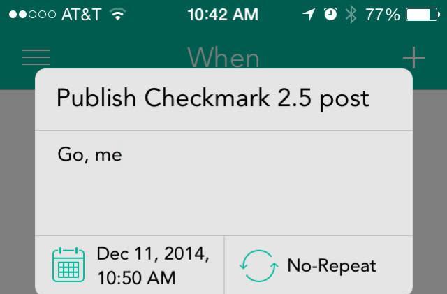 Checkmark 2.5 adds Today widget, more