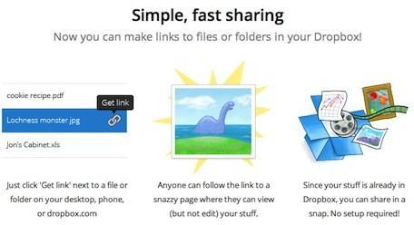 Dropbox update adds public links to any file or folder