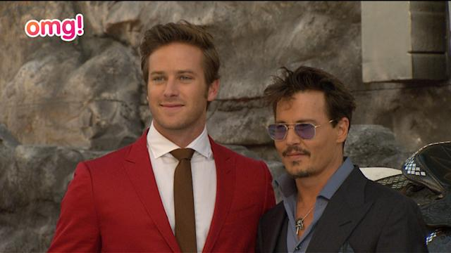 Armie Hammer + Johnny Depp at Lone Ranger premiere