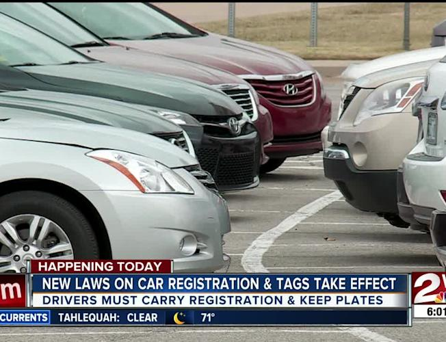 New laws on car registration and tags take effect on July 1
