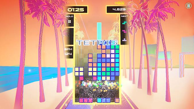'Tetris Beat' from Apple Arcade on an iPhone