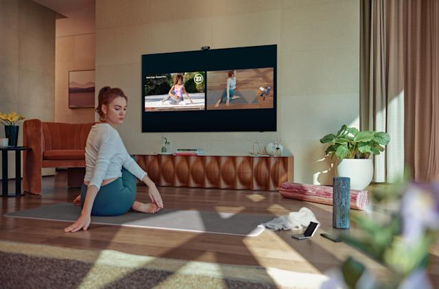 Samsung's new TVs can track your workout reps and form