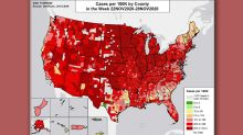 Nearly the entire U.S. has become a COVID hot spot, government map shows