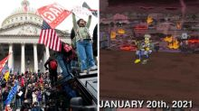 Fans think The Simpsons predicted US Capitol riots
