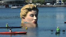 'Giant Mermaid' is turning tourists' heads in Hamburg's Alster Lake