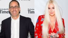 Jerry Seinfeld Hilariously Says 'No Thanks' to Hug From Kesha