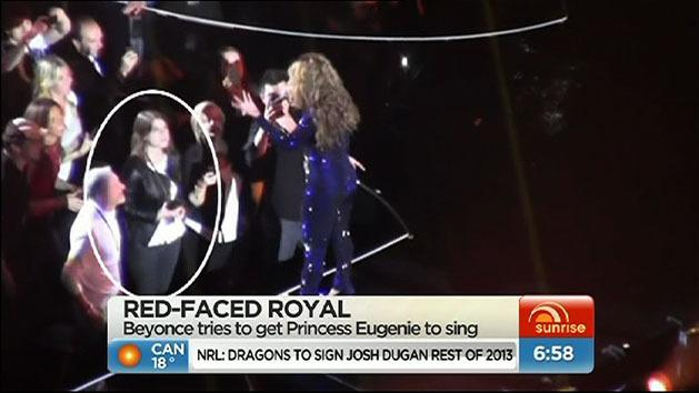 Royal red-faced at Beyonce concert