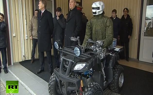 Russia's new combat robot shoots guns and drives ATVs... slowly