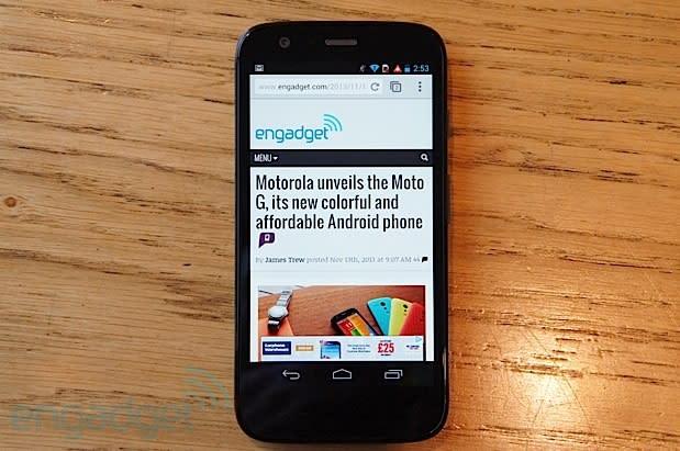 Motorola now selling unlocked Moto G in the US, starting at $179