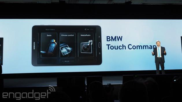 BMW wants you to control your car's features from a Samsung tablet