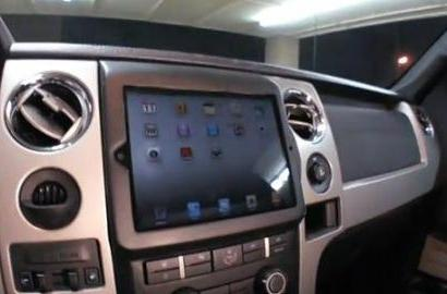 iPad 2 already installed in Ford F-150 truck