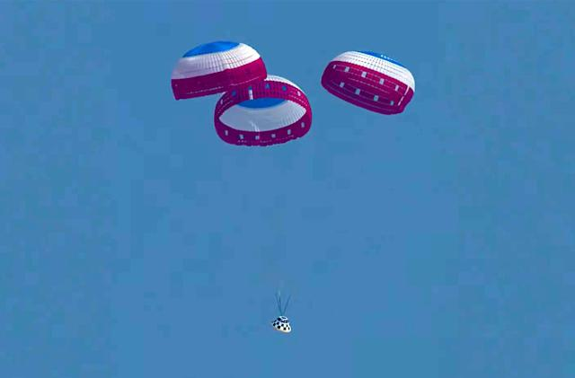 Boeing's Starliner completes its final landing parachute system test