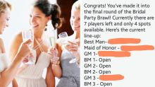 Bride makes friends compete to 'secure a spot' in wedding party