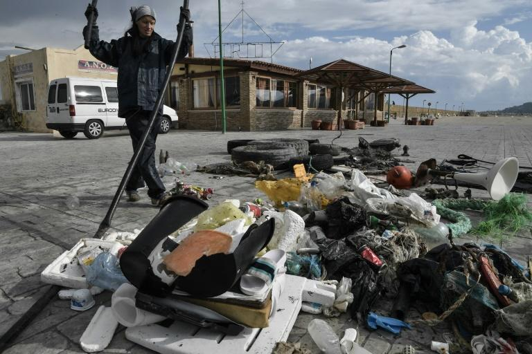 WWF has reported that Greece produces 700,000 tonnes of plastic per year, of which 11,500 tonnes end up in the sea (AFP Photo/LOUISA GOULIAMAKI)