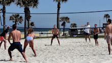 A group of Florida college students traveling together on spring break have tested positive for the novel coronavirus