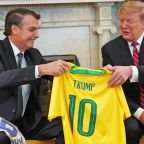 Trump news: President holds press conference with Brazil's far-right leader Bolsonaro, after Twitter row over 'deteriorating' mental health