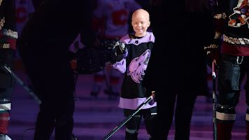 Coyotes treat young cancer patient to big day