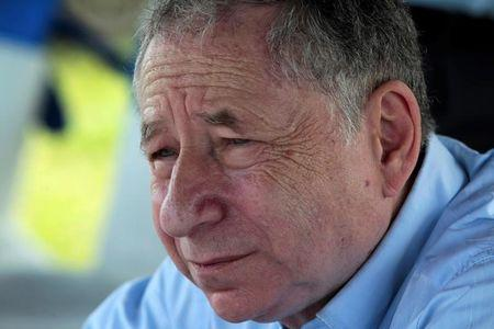 """FIA President Jean Todt listens to journalists during a news conference in the race track """"Los Brasiles"""" in Managua"""