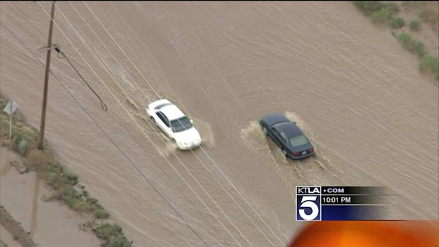 Storm Brings Heavy Rains, Hail and Flooding to Antelope Valley