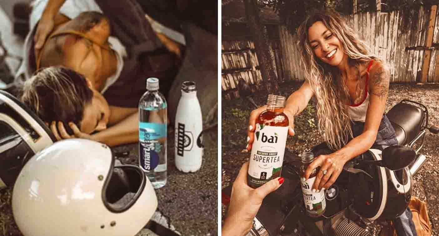 Instagram influencer forced to defend 'photo shoot' of motorbike accident