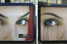Leo Burnett's rain-sensitive cosmetic billboard