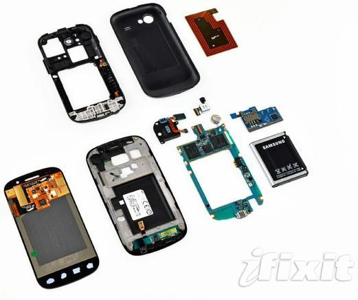 Nexus S torn asunder, its curves laid out on display