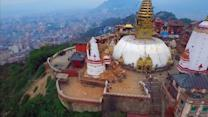 Drone video gives bird's eye view of Nepal devastation