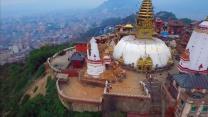 Drone video gives bird's eye view of Nepal devastation