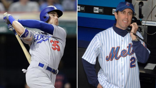 Cody Bellinger has big-time power at the plate, but he wouldn't know Jerry Seinfeld if they crossed paths. (AP)