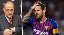 """Tebas a Messi: """"Volevamo tenerlo, ma la Liga deve essere sopra ogni giocatore"""""""