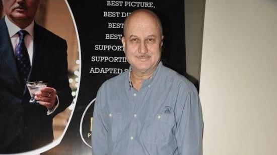 Anupam Kher Promotes 'Silver Linings Playbook'