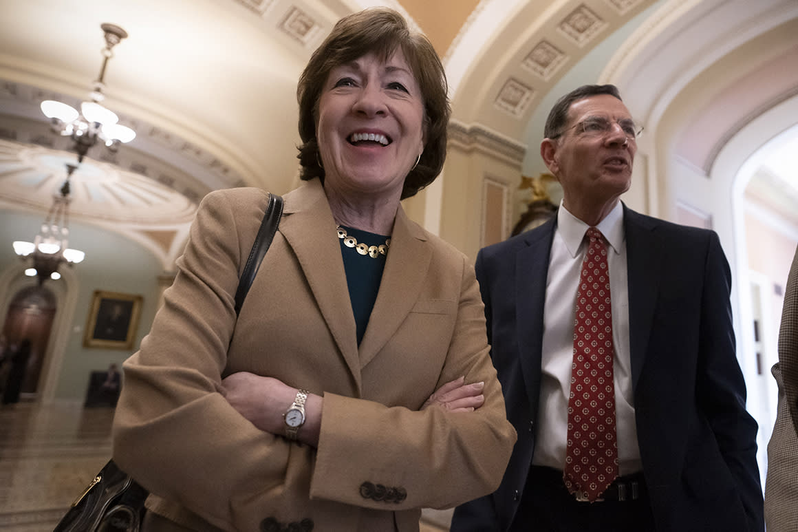 Susan Collins and the GOP court Trump on guns