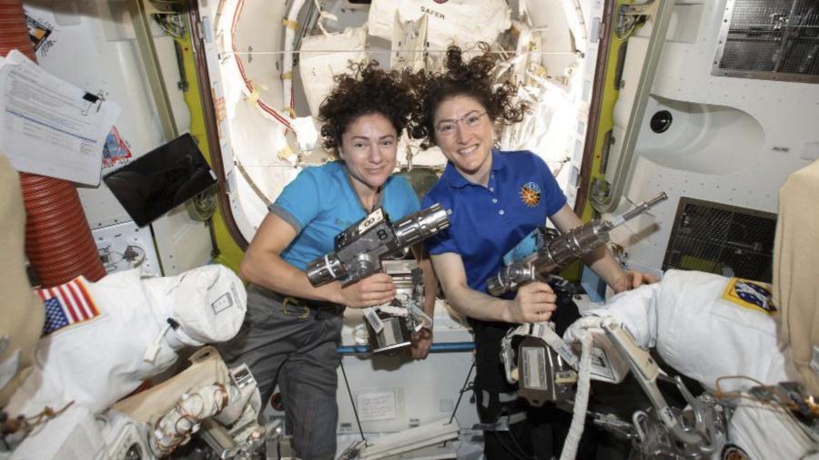 1st all-female spacewalk team makes history
