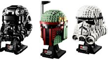 Star Wars LEGO launches buildable helmets including Boba Fett's