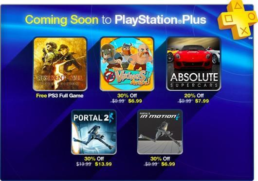 Resident Evil 5 Gold Edition free, Portal 2 cheap on PlayStation Plus this week