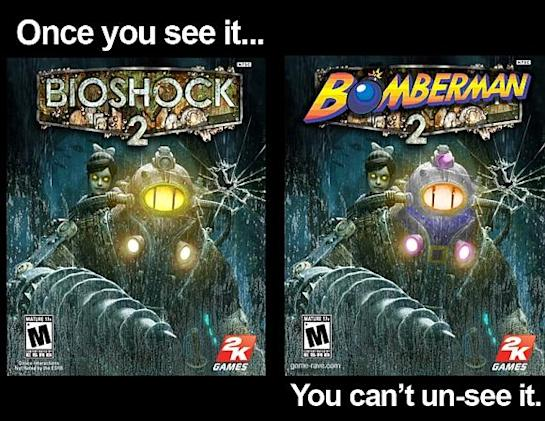You can't unsee Bomberman in BioShock 2