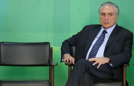 Brazil's Vice President Michel Temer is pictured at the Planalto Palace in Brasilia, Brazil, in this March 2, 2016 file photo. REUTERS/Adriano Machado/Files