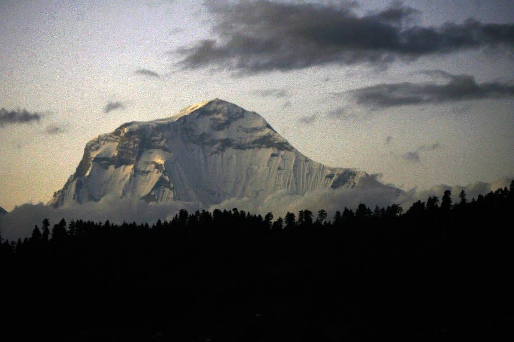 Mount Gurja lies in the avalanche-prone Dhaulagiri range (AFP Photo/PRAKASH MATHEMA)