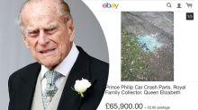 Debris from Prince Philip's crash bids for $117K on eBay