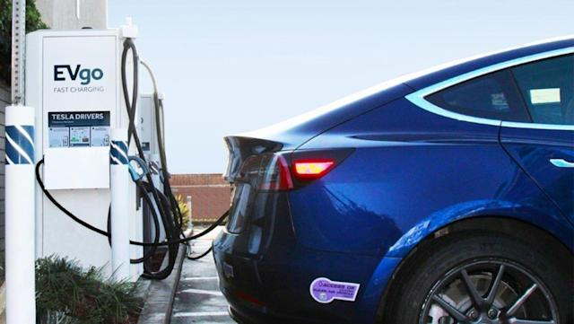 EVgo is adding Tesla connectors to its fast charging stations