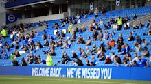 Fans are back to see Brighton earn a late draw with Chelsea