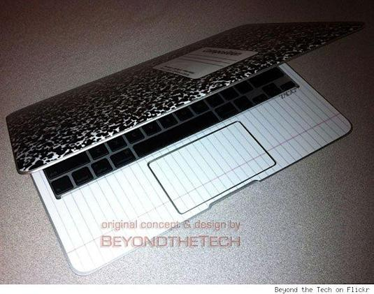 DIY Composition notebook cover for MacBook Air