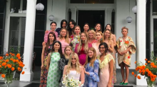 Mary-Kate and Ashley Olsen make perfectly mismatched bridesmaids