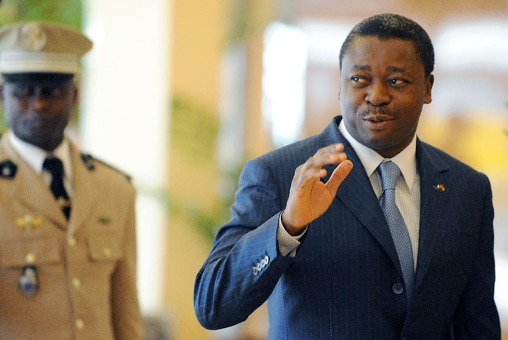 Togo's President Faure Gnassingbe arrives for an ECOWAS Summit gathering of West African leaders in Abuja, Nigeria, on November 11, 2012