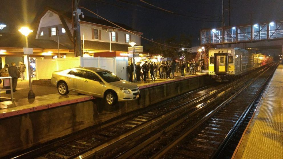 209 W Little York Rd: 'Confused' Driver Ends Up Dangling Halfway Off Train