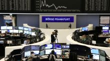 European shares slip from October highs as banks weigh