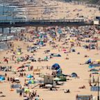 People flock to beaches across England despite warnings to avoid crowds as lockdown eases