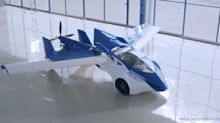 Incredible video shows first real flying car on flight test over Europe